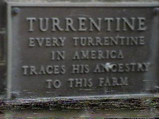 Turrentine in America traces his ancestory to farm